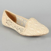 F-35 Lace Round Toe Loafer Flat