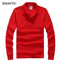 New Polo Hombre Shirt Men Fashion Collar shirts Long Sleeve Casual Sweatshirts