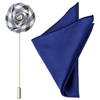 Blue Gingham Flower Pin Pak #2
