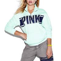 Boyfriend Quarter-Zip - PINK - Victoria's Secret