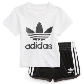 adidas Originals Graphic Tee & Shorts Set (Baby Girls) | Nordstrom