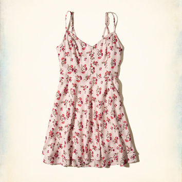 Girls Button-Front Tiered Dress | Girls Dresses & Rompers | HollisterCo.com