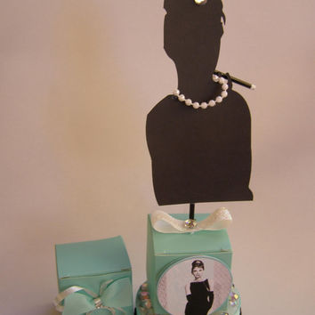 Ten Cupcake Toppers Audrey Hepburn Movie Breakfast At Tiffany's Holly Go Lightly Face Birthday Party, Bachelorette,  Wedding