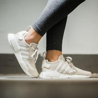 Best Online Sale Adidas NMD R1 Talc/Off-White  Boost Sport Running Shoes Classic Casual Shoes Sneakers