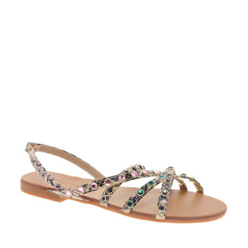 London Rebel Ritz Flat Sandal
