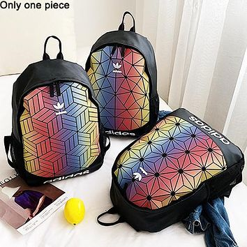 ADIDAS popular men's and women's casual backpacks fashion gradient stitching shopping backpacks