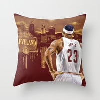 LeBron, The Return Throw Pillow by PointsInThePaint
