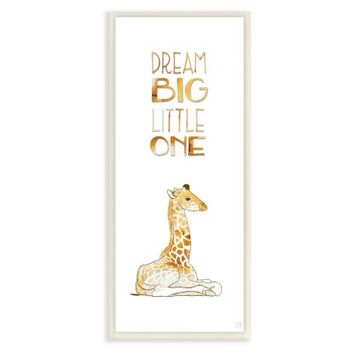 Stupell Decor Dream Big Little One Giraffe Wall Plaque Art | Hayneedle
