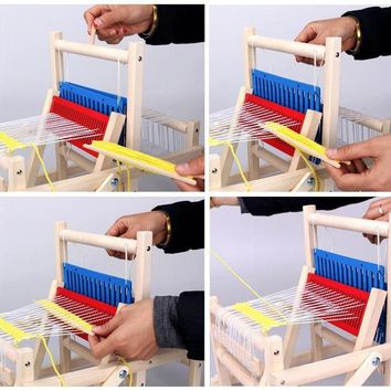 DIY Weave Educational Toys, Childrens Sweater Knitting Machine, Hand Looms, Girl Making Handmade Wool Toys