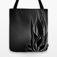 Abs Plant at Night Tote Bag by Charma Rose