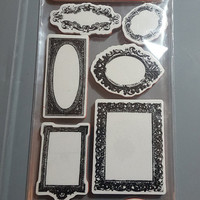 M17 - 7gypsies Cling Stamps - Collections from the Journey - Hampton Art - 8 pieces