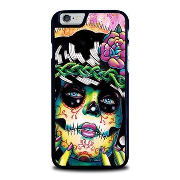 day of the dead skull girl iphone 6 6s case cover  number 1