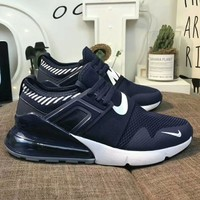 NIKE Air Max new fashion sports air cushion men shoe Navy blue