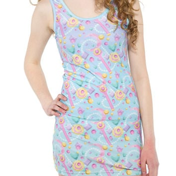 MOON PRISM DRESS - festival clothing - burning man clothing - pastel goth - sailor moon - bodycon dress - sailormoon - kawaii - gemstone