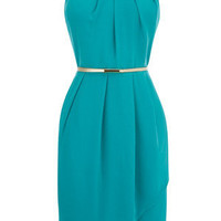 Oasis Shop | Deep Green Paloma Embellished Dress | Womens Fashion Clothing | Oasis Stores UK