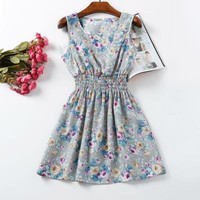 Beauty Women Sun Floral Dress