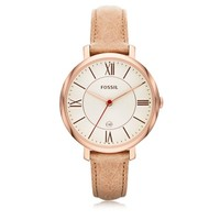 Fossil Designer Women's Watches Jacqueline Sand Leather Women's Watch