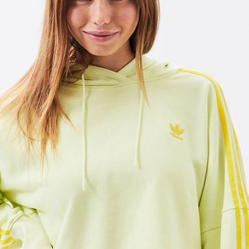 adidas Neon Yellow Cropped Hoodie | PacSun