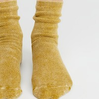 Salt Washed Crew Sock
