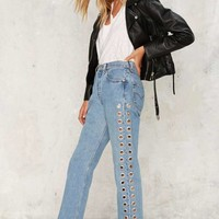 After Party by Nasty Gal Holed Up Levi's Grommet Jeans