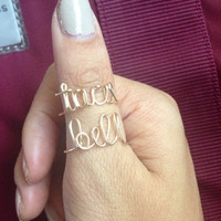2 Ring Set  Taco Bell Adjustable Wire Ring  by JadoreElle on Etsy