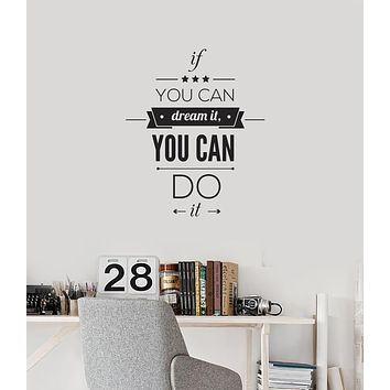 Vinyl Wall Decal Inspirational Office Room Quote Saying Words Art Stickers Mural (ig6023)