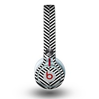 The Black and White Opposite Stripes Skin for the Beats by Dre Mixr Headphones