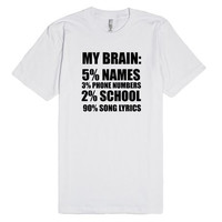 My Brain is Song Lyrics T-Shirt