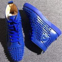 PEAPUX5 Cl Christian Louboutin Louis Spikes Style #1876 Sneakers Fashion Shoes