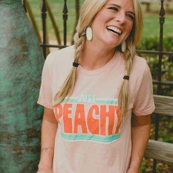 Just Peachy Graphic Tee (S-2XL)