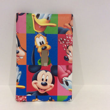 Mickey Mouse Light Switch Cover, Mickey Mouse Switchplate, Mickey Mouse Nursery Decor