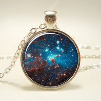 Galaxy Necklace, Heavenly Nebula Pendant, Stars And Universe Jewelry (1342S1IN)