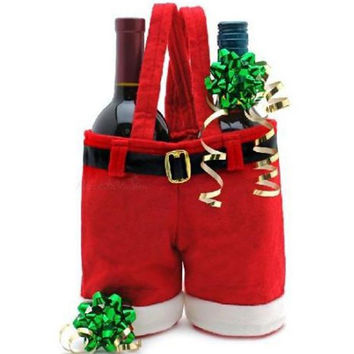 Christmas Candy Wine Bottle Bag