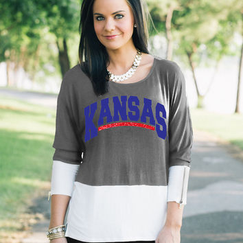 GAMEDAY Colorblock Tunic - KANSAS