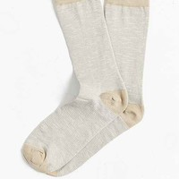 Mercerized Slub Stripe Sock-