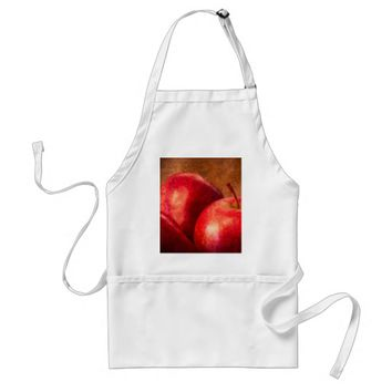 Three Red Apples Adult Apron