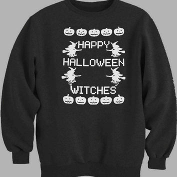 Happy Halloween Witches Sweater for Mens Sweater and Womens Sweater ***