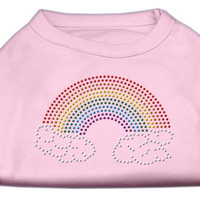 Rhinestone Rainbow Shirts Light Pink M (12)