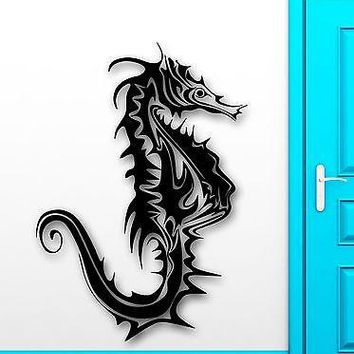 Wall Sticker Vinyl Decal Seahorse Ocean Animals Sea Marine Decor Room Unique Gift (ig2064)