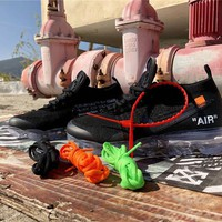 OFF WHITE x Air Vapor Max Flyknit 2018 Black Size 36-45