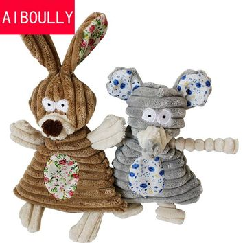 2017 Dog Toys Pet Puppy Chew Squeaker Squeaky Plush Sound Cute Rabbit Elephant Stuffed Dog Squeaking Toy