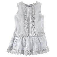 2-Piece Embroidered Crinkle Dress