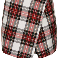 White Tartan Assymetric Skorts - New In This Week - New In - Topshop