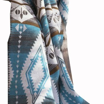Turquoise Earth Blanket Throw