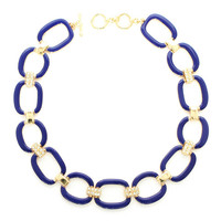 Lauren Blue Enamel Necklace