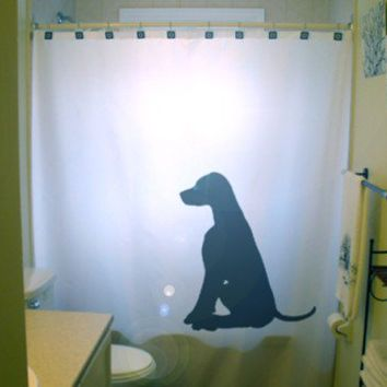 Dog Labrador Retriever Shower Curtain black lab puppy dogs pet, unique Shower Curtains