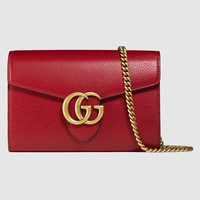 Gucci GG Marmont leather mini chain bag