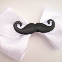 Mustache Hair Bow, Geeky Accessories