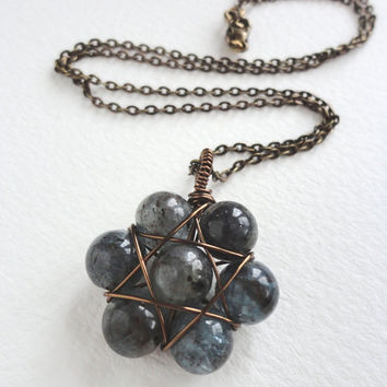 Kyanite Seed of Life pendant