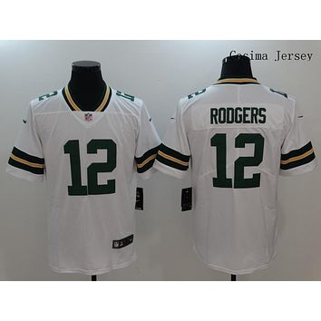 Danny Online Nike NFL Jersey Men's Vapor Untouchable Color Rush Green Bay Packers #12 Aaron Rodgers Football Jersey White